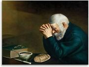 Print - Grace By Eric Enstrom Daily Bread Man Praying At Dinner