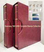 Guernsey 1941-2008 Near Complete Collection Of Stamps In 2 Kabe Albums Fine Muh