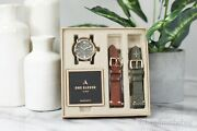 One Eleven Cboe5003 Sw1 Solar Three-hand Date Matte Green Dial Watch Box Set