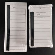 25-15 Line And 100-10 Line Tear Off Football Cards Raffle Tickets Gambling Strip