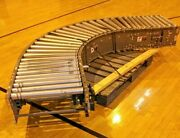 Fki Logistex 90 Degree Curve Curved Power Powered Roller Conveyor W/ Stands