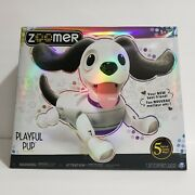 Zoomer Playful Pup Responsive Robotic Dog Voice Recognition Realistic Tricks New