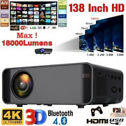 4k 1080p Hd Wifi Portable 3d Android Smart Home Theater Video Projector 3500 Lm