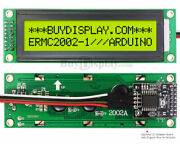 Yellow Iic/i2c Serial Character 20x2 Lcd Display Module For Arduino W/library