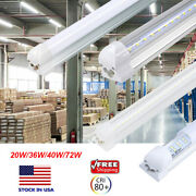 T8 Led Integrated Shop Light Bulb Fixture Linkable Tube Lamp 4ft 8ft Clear Milky