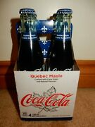 Quebec Maple Syrup Coca- Cola Set Of 4 With Cane Sugar Brand New Free Shipping