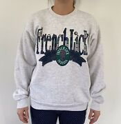 Vintage Lee French Lick Indiana Gray Crewneck Sweatshirt And Plaid Letters, Size M