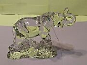 Vintage 24 Lead Crystal Wonders Of The Wild From Germany Elephant