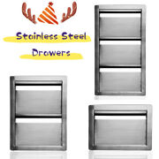 Outdoor Kitchen Drawers Double Single Triple Stainless Steel Multi-size
