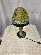Cameo Glass Galle Type Table Lamp By Romanian Artist