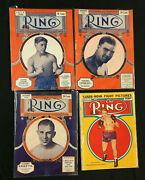 The Ring Boxing 41 Magazine Lot 1929-2018 Louis, Ali, Dempsey, Frazier More