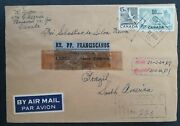 1964 Canada Airmail Cover Ties 2 Stamps Cancelled Montreal To Brazil