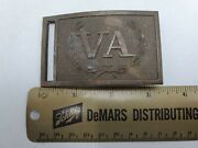 Vintage Va Virginia State Civil War Belt Buckle By Greenwood And Gray - Rare