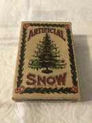 Antique American Brand Artifical Snow For Decorating Christmas Tree Made In Usa