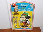 Vintage Mickey Mouse Hold 'em Wallet, Ring And Coins On Card Nos