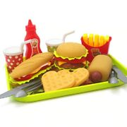 Kids Fast Food Playset Pretend Play House Children Educational Plastic Toy Gift
