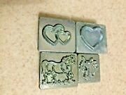 Vintage Craftool Leather Stamps- 8238, 8232, 8237, 8235.
