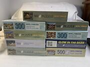 Lot 9 New Bit's And Pieces 300-pc 500-pc 1000-pc Jigsaw Puzzles 18x24 16x20