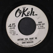 Jimmy Breedlove My Guardian Angel / Anytime You Want Me Okeh 7 Single 45 Rpm