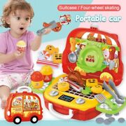 Kids Suitcase Toys Tool Kitchen Cosmetic Medical Educational Pretend Play Gift
