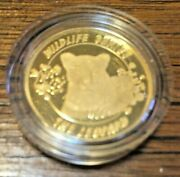 2004 South African Wildlife Series - Leopard Proof With 1/4 Oz Gold Very Rare