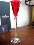 Waterford Crystal Lismore Jewels Ruby Red Champagne Flute S - New In Box