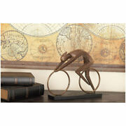 Racing Bicyclist Sculpture Figurine Riding Bicycle Rider Racer Cyclist Statue
