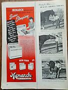 1953 Monarch Electric Gas Range Oven Ad