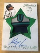 2020 Flawless Star Swatch Kyle Lewis 3/3 Emerald Rc Auto