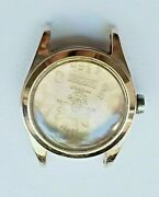 14k Solid Pink Gold Case 21mm For Rolex Oyster Lady Wrist Watch