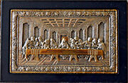 Hand Made Sterling Silver .950 The Last Supper Byzentine Large Icon By Clarte