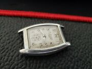 C Bucherer 1920and039s Gents 8 Day Wristwatch Sterling Silver Case. Very Rare