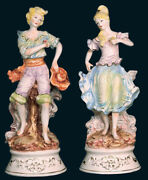 Capodimonte Folk Dancers Figurines Only Made In Italy