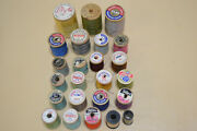 Vintage Sewing Thread Coats And Clark Star Lily Fast To Boil Etc. Lot Of 24