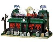 Rare Retired Lemax Spooky Town Graveside Diner Lighted 95805 Halloween New T42