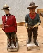 """Collectible Decanters """"soldiers"""" Lionstone And Canadian Rare"""