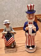 """Collectible Decanters Limited Mccormic """"betsy Ross""""musical """"patriot"""" Dancer"""