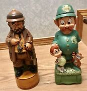 """Collectible Decanters""""sherlock Holms"""" And """"policemen"""" Musical Rare"""