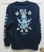 Tillyandrsquos Death Coast Supply Hold Fast Long Sleeve S Menand039s T-shirt W/graphics Nwot