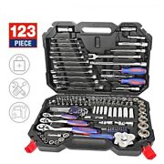 Car Repair Ratchet Spanner Wrench Socket Set Bicycle Screwdrivers Wrenches Box