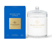 New Glasshouse Diving Into Cyprus Sea Salt And Saffron Triple Scented 380g Candle