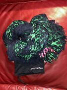 Louis Vuitton Green And Navy Sold Out Luxurious Legendary Leopard Shawl Scarf