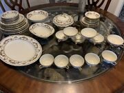 Vintage Set Of Bohemia Royal Ivory Dishes Made In Czechoslovakia