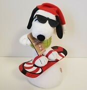 Hallmark Christmas Snowboard Snoopy With Sound And Motions - Working