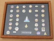 Nasa Space Shuttle Team Insignias Pin Collectors Edition Challenger Columbia