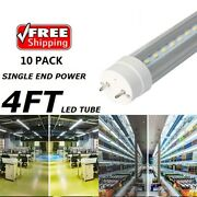 T8 G13 4ft Led Tube Single End Power Tube Without Ballast And Starter Shop Tubes