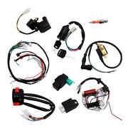 Cdi Wire Harness Stator Assembly Wiring Kit Fit For 50cc-125cc Atv Chinese Quads