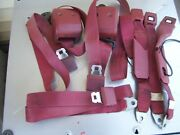 Lil Red Express Warlock Dodge Truck Seat Belts Complete Set Red Used