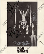 Iron Maiden 8x10 Promo Paul Diand039anno Dave Murray Stratton Harris Autograph Signed
