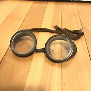 Vintage Goggles Aviator Motor Car Motorcycle Racing Driving Steampunk Glasses